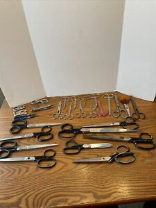 LOT OF 27 PAIRS OF VINTAGE SCISSORS Large Small USA Italy Germany