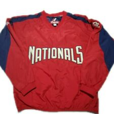 Washington Nationals Majestic MLB Red Pullover Warm Up Jacket Size Small