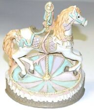 Emson Cast Iron Carousel Horse Doorstop Figurine Vintage