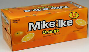 Mike and Ike Orange Flavor Chewy Candy Box of 24 Individual Packs Bulk Candies