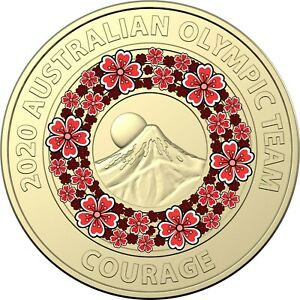 AUSTRALIA 2020 - Uncirculated - TOKYO Olympic RED $2 coin COURAGE