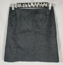 ANNI KURN Mini A Line Skirt Textured Black Sz 2