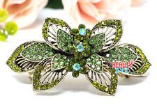 Metal hair Barrette claws clips Flowers wedding bridal Rhinestones Crystal NEW