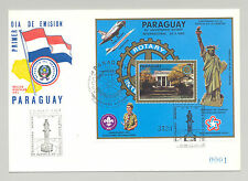 Paraguay #C595 Rotary, Scouts, Bicentennial 1v S/S on FDC with Chess Cancel