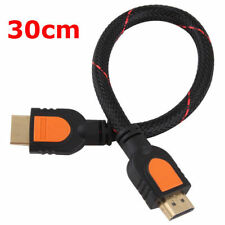 30cm 1 Foot short HDMI Cable for HD TV 3D 1080p One Feet HDMI 1.4 braided gold