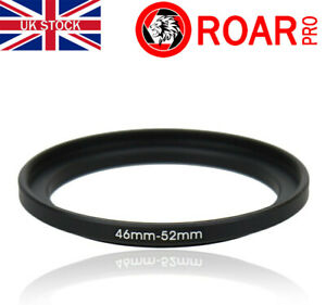 46-52mm Stepping Step-Up Ring Filter Adaptor 46mm to 52mm
