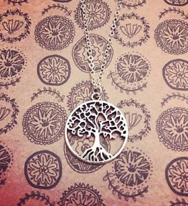 Tree Of Life Charm Necklace Silver Chain Spiritual