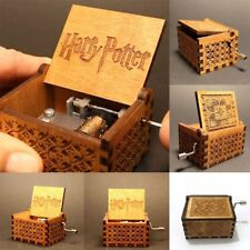 Harry Potter Hand-cranked Engraved Wooden Music Box Creative Toys Xmas Kids Gift