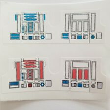Vintage Star Wars R2-D2 & R5-D4 Replacement Stickers  - No Need To Cut