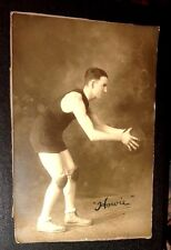 rare old real cabinet photo basketball player signed Howie