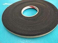 """1/2"""" X 50' x 1/8"""" Roll Neoprene Foam Press On Seal Tape P8112 Weather Sealant"""