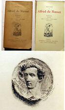 DE MUSSET/POESIES/1833-1852/ED LEMERRE/SANS DATE/FRONTISPICE/ROMANTISME