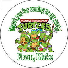 12 teenage ninja turtles stickers Birthday Party loot bag 2.5 Inch Personalized