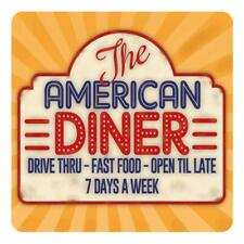 The American Diner. roadside cafe, 50's, 60's dinner Drinks Table Coaster