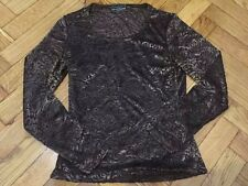 Jus d'Orange Paris Size S/M top blouse long sleeve elegant velvety France
