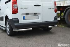 To Fit 2016+ Citroen Berlingo Stainless Steel Rear Corner Back Nudge Chrome Bars