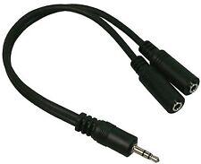 Cavo Audio Sdoppiatore Jack 3.5mm 1Maschio>2Femmine 20 cm, x 2 cuffie o casse