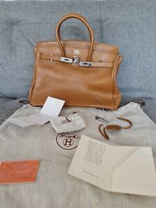 HERMES Authentic Handbag Birkin 35 Brown Leather