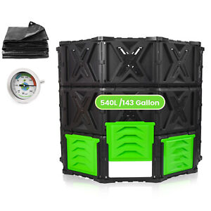 SQUEEZE master XXL Large Compost Bin Outdoor- 540L /143 Gallon-Easy Assembly