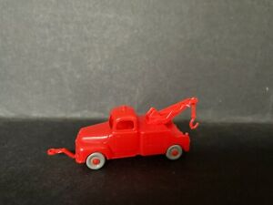 CEREAL TOY R&L 1966 OPEN ROAD TOW TRUCK - LIGHT RED, GREY WHEELS