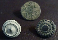 3 SMALL ANTIQUE BUTTON CENTURY XVIII OLD BOUTON BUTTON BOTON SEE MY SHOP CCB21