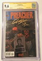 Preacher #2 (1995, DC) CGC 9.6 SS Signed X2 Dillion (RIP) & Ennis - 1st Arseface