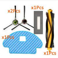 For ECOVACS DG3G-KTA DEEBOT OZMO 930 Side/Main Brushes Mop Pad Kit Part Set