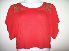 Women's CANDIE'S Red Dolman Sleeve Top - Size - L