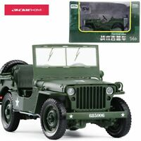 1:18 Tactical Military Model Jeeps Old World War II Willis Military Vehicles All
