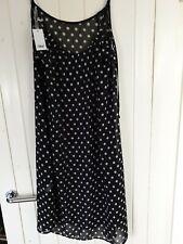 Pour Moir Ladies Black/White  Polka Dot Key West Beach Pool Dress Size XL