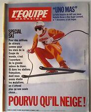 b)L'Equipe Magazine 02/12/1989; Entretien Arantxa Sanchez/ Spécial Ski/ Uno Mas