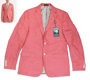 Ralph Lauren Lassiter Ultraflex 100% Linen Sport Coat Blazer 38 Regular NWT Red