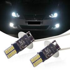 2PCS Xenon White H3 6000K 24-SMD LED High Beam Lamps Fog Driving DRL Light Bulbs