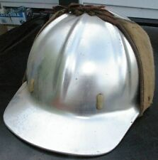 Vintage  Metal Mining  Hard hat Construction w/ winter B.F McDonald Cloth cover