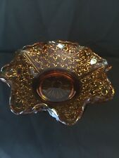 Vintage Yellow/Gold ~ Bowl~Glass ~beautiful