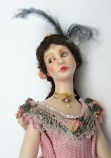 MINIATURE ARTISAN BEAUTIFUL DOLLHOUSE PORCELAIN LADY IN EXCELLENT CONDITION