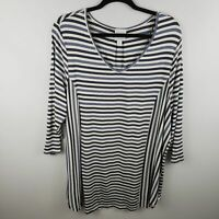 Dressbarn Sunday Striped 3/4 Sleeve Top NWOT PLUS Size 2X