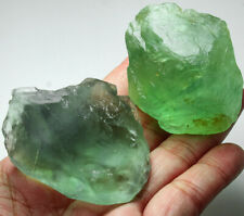 777.7Ct Natural Green Fluorite Crystal Specimen Rough YVU653