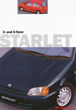 Prospekt Toyota Starlet 3 Türer 5 Türer 1998 Autoprospekt 3 98 brochure Auto Pkw
