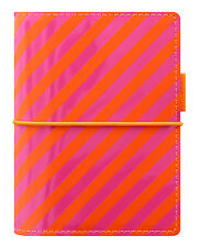Filofax Pocket Size Personal Organiser Diary - 'Domino' Orange & Pink 022576