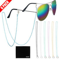 [6-Pack] Copper Eyeglass Sunglasses Retainer Holder Strap Cord Chain Necklace