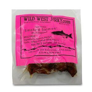 Fresh Wild Caught King Smoked Salmon Squaw Candy Savory Deliciousness 2 OZ Jerky