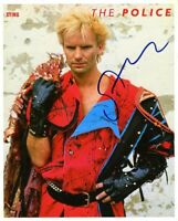 Sting Press Promo The Police Autographed Signed 8x10 Photo Authentic JSA COA