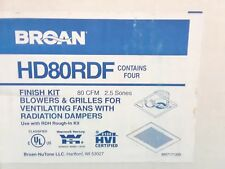 1 Broan 80Rdf Finish Kit Pack with White Metal Grille 80 Cfm Ventilation Fan