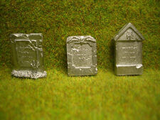 3 pc Unknown Gravestones Thomarillion Unpainted Pewter D&D Dwarven Forge