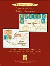 European Letter Rates 1840-1871 - Large Gold - Bennett Auction Catalog