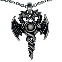 Tribal Fer de Lance Spear lance Arrowhead Asgard Dieu Odin Étain Pendentif W Collier