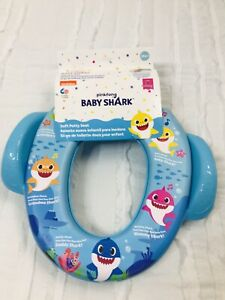 Pinkfong Baby Shark Soft Potty Seat Cover Lid Training Kids Blue 18M+
