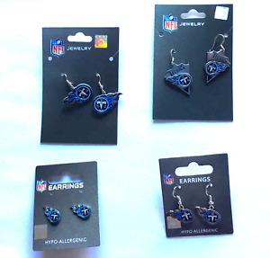 Tennessee Titans NFL Earrings~Choose Your Style:Post/Dangle/Arrow