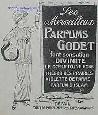 PUBLICITE GODET PARFUM D'ISLAM COEUR D'UNE ROSE TRESOR DES PRAIRIES DE 1914 AD